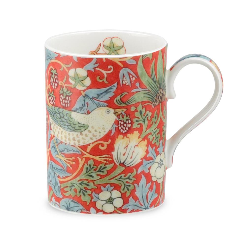Morris China Strawberry Thief MugCrimson William lTK1cuF3J