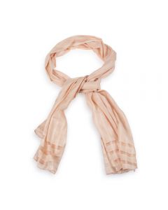 National Trust Plain Window Pane Scarf, Dusky Pink