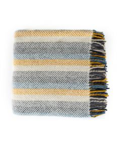 Multi Colour Fishbone Rug, Summer Stripe