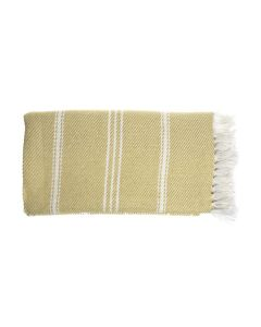 Gooseberry Oxford Stripe Throw, 230x130x0.5cm