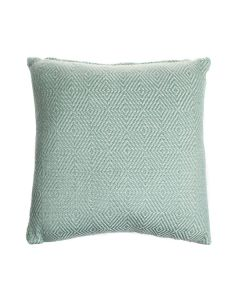 Teal Diamond Weave Cushion