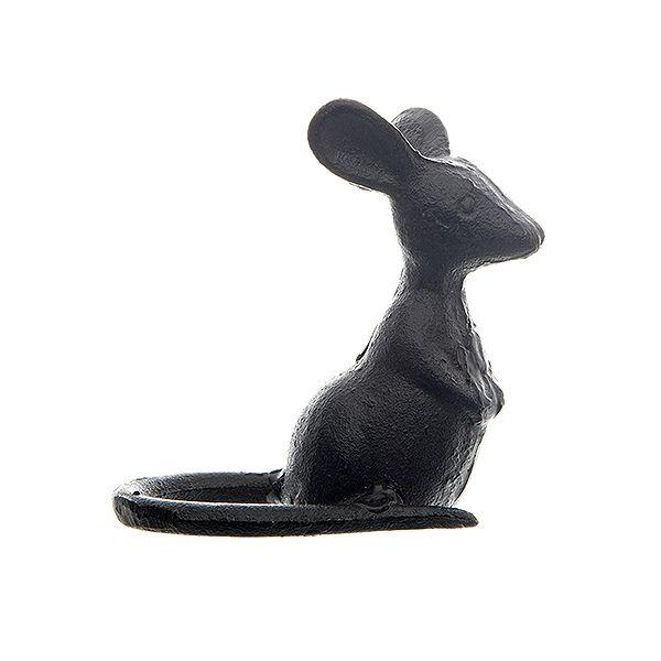 Cast Iron Mouse Sculpture