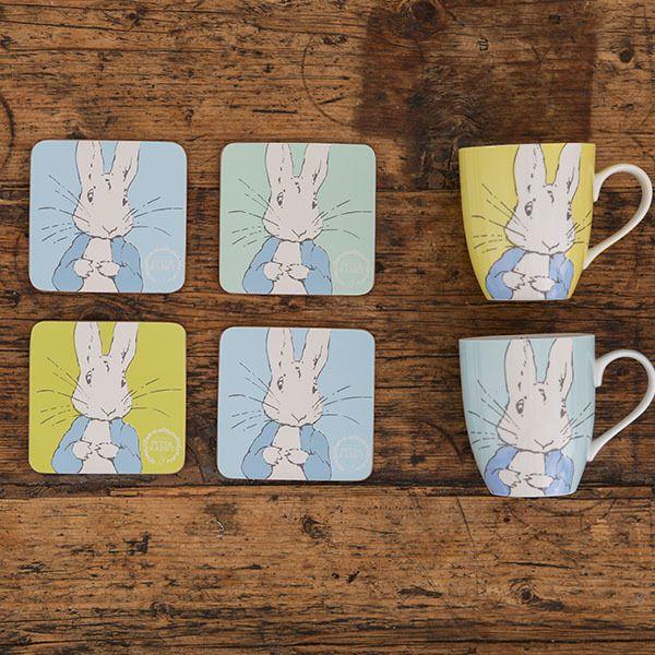 Beatrix Potter Peter Rabbit Coasters, Set of 6