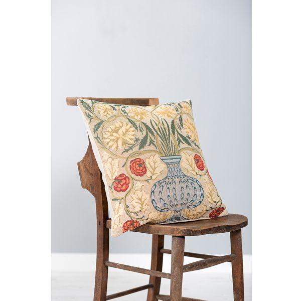 William Morris Flower Pot Cushion