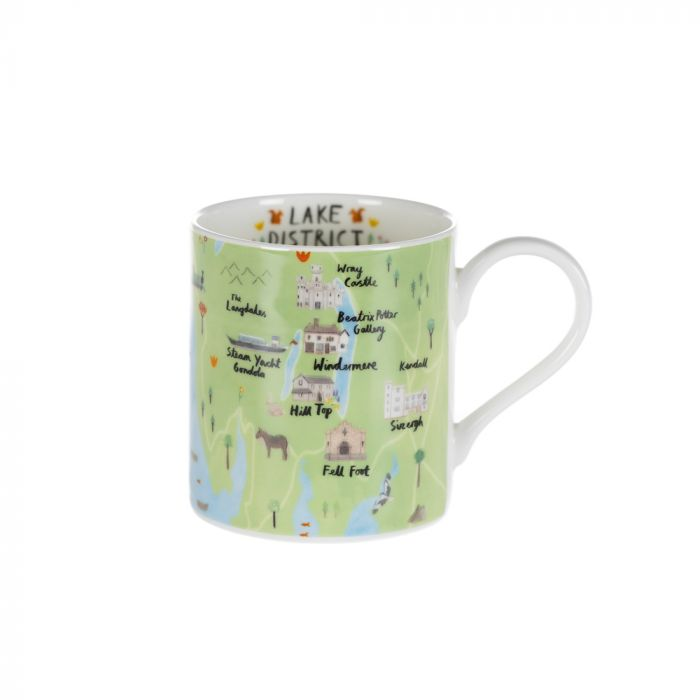 National Trust Lake District mug with map design