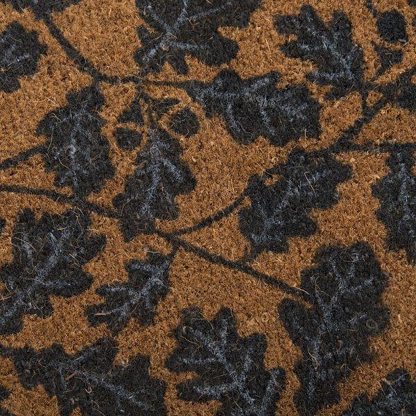 National Trust Alfriston Clergy House Oak Leaf Coir Doormat