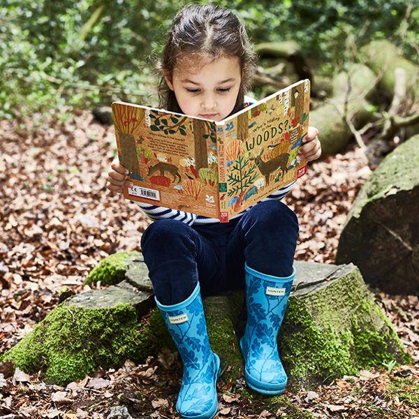 National Trust Hunter Kids First Wellington Boots, Starlight