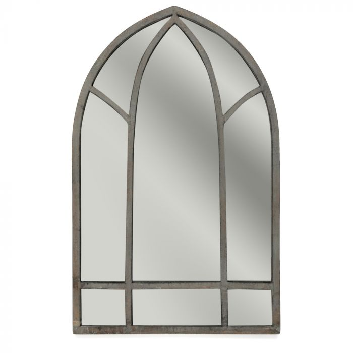 Outdoor Gothic Metal Mirror