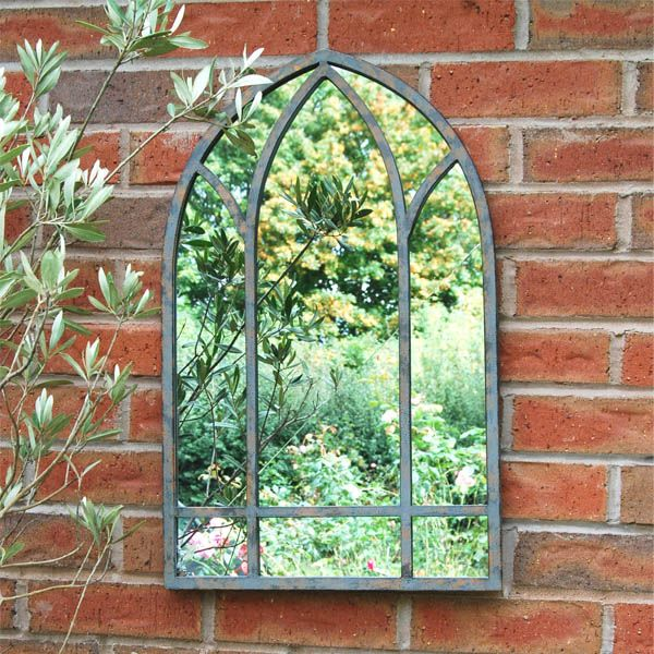 Outdoor Gothic Metal Mirror