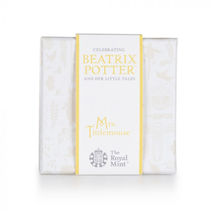 Beatrix Potter Mrs Tittlemouse 2018 Silver Proof 50p Coin