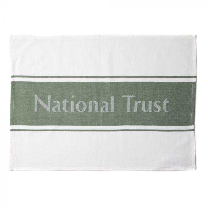National Trust Tea Towel, Green