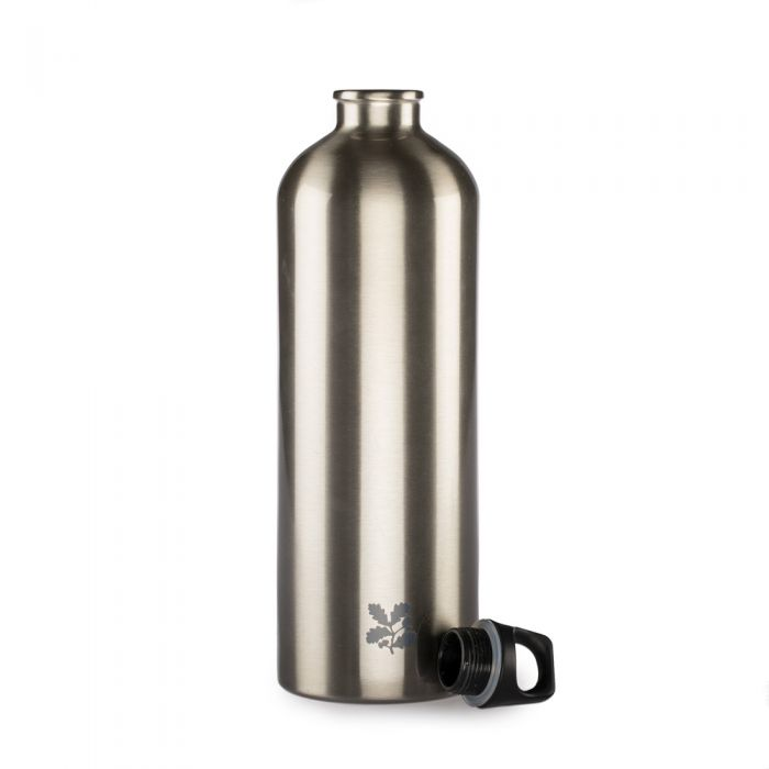 National Trust Stainless Steel Silver Bottle, 1L