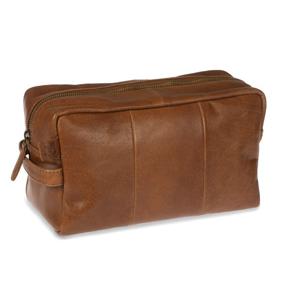 National Trust Leather Wash Bag