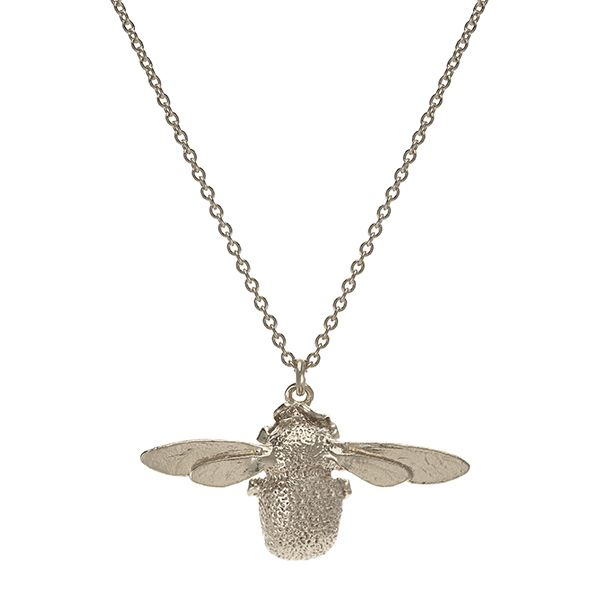 Alex Monroe Bumblebee Necklace, Sterling Silver