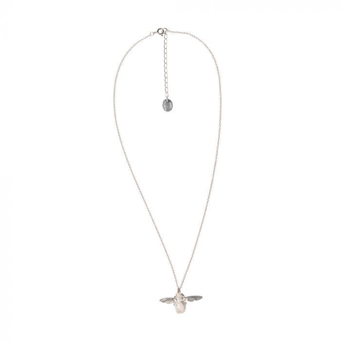 Alex Monroe sterling silver bumblebee pendant necklace