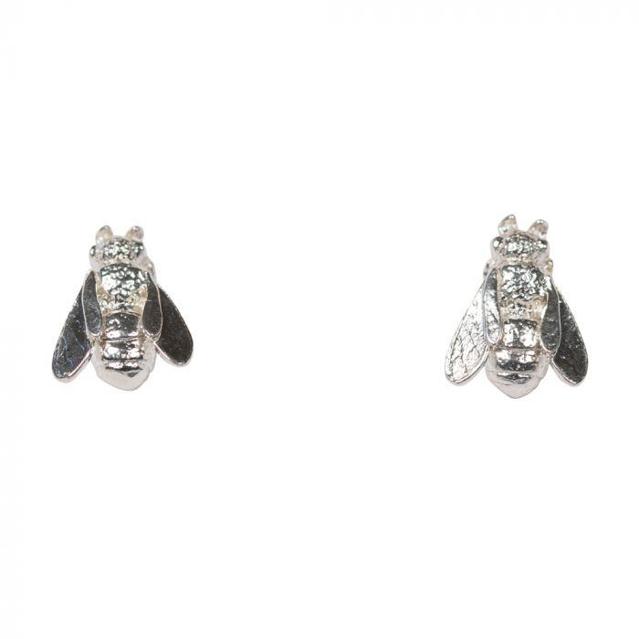 Alex Monroe Honeybee Stud Earrings, Sterling Silver