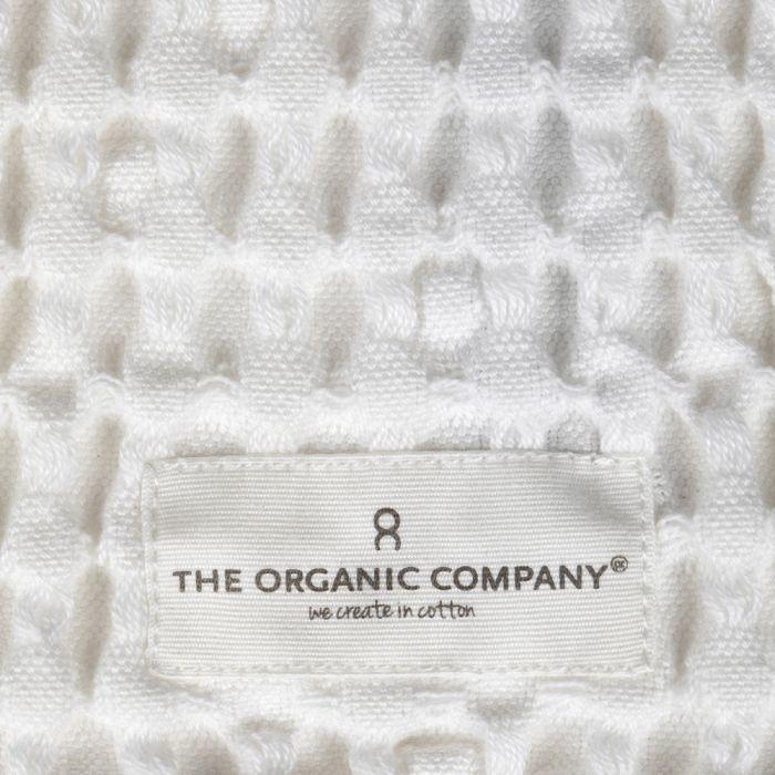 Organic Cotton Big Waffle Wash Cloth, White