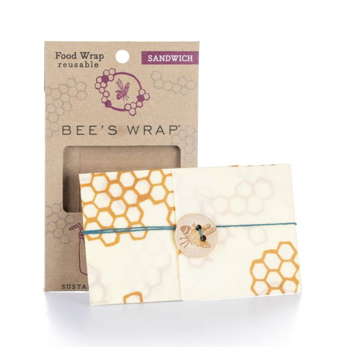 Reusable Food Sandwich Bee's Wrap, 13 x 13 inches