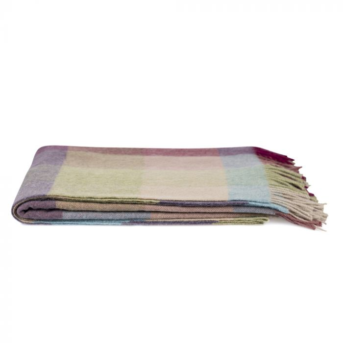 National Trust Herringbone Block Pastel Throw