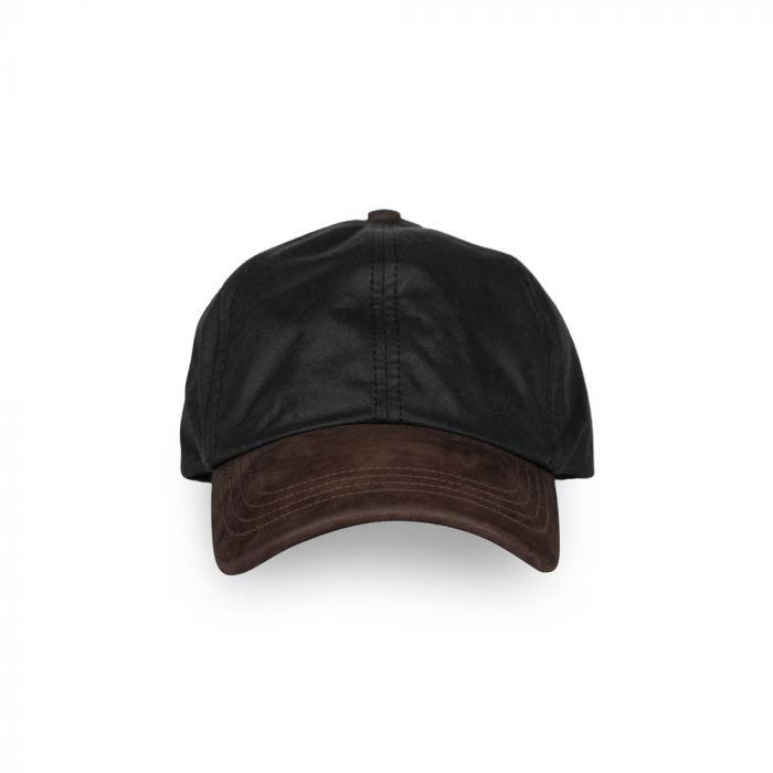National Trust Waxed Baseball Cap, Black