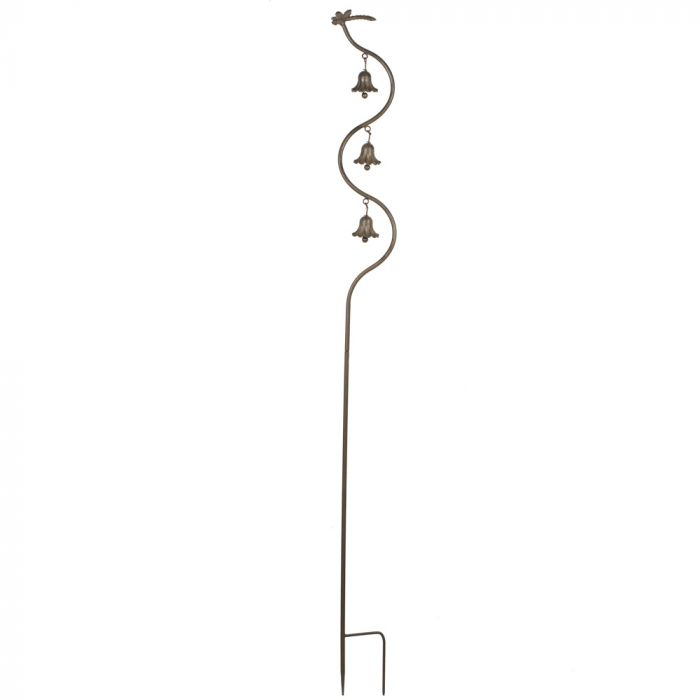 Triple Bell and Dragonfly Plant Stake
