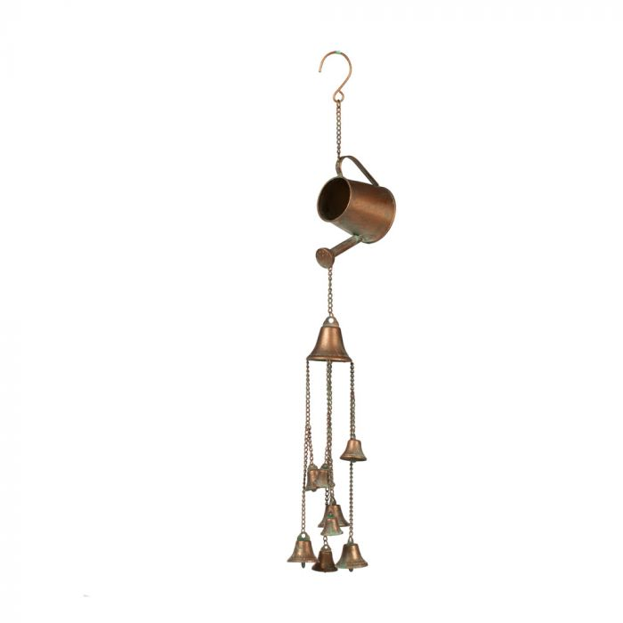 Watering Can with Bells, Antique Finish Wind Chime