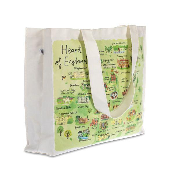 National Trust Heart of England Canvas Bag