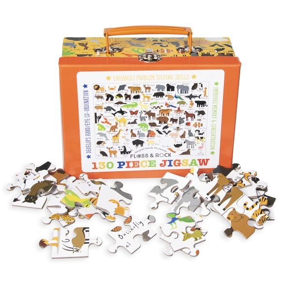 Animal Carry Case Jigsaw Puzzle, 130 pieces