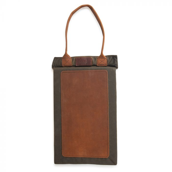 National Trust Waxed Cotton Gardening Kneeler with Leather Trim