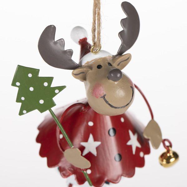 Metal Reindeer Figure