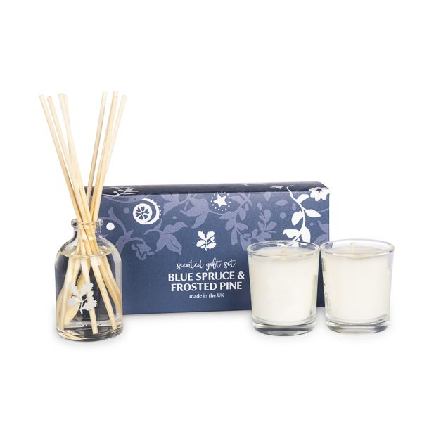 National Trust Blue Spruce and Frosted Pine Scented Gift Set