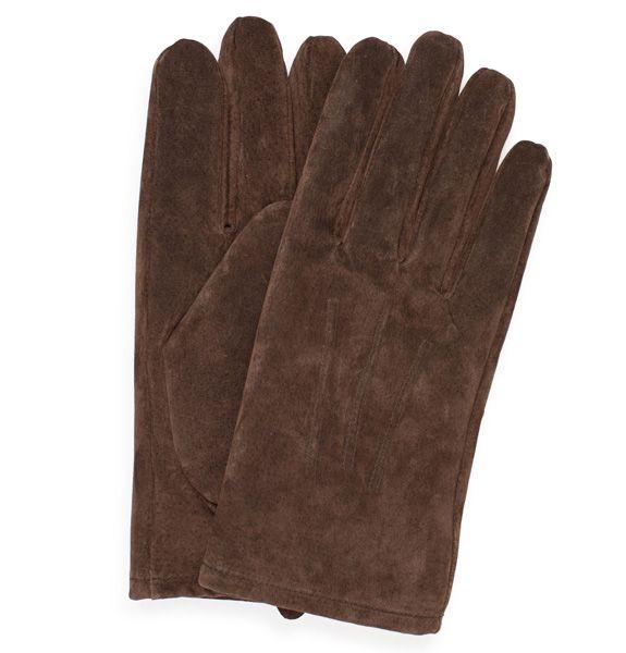 Men's Suede Gloves, Brown