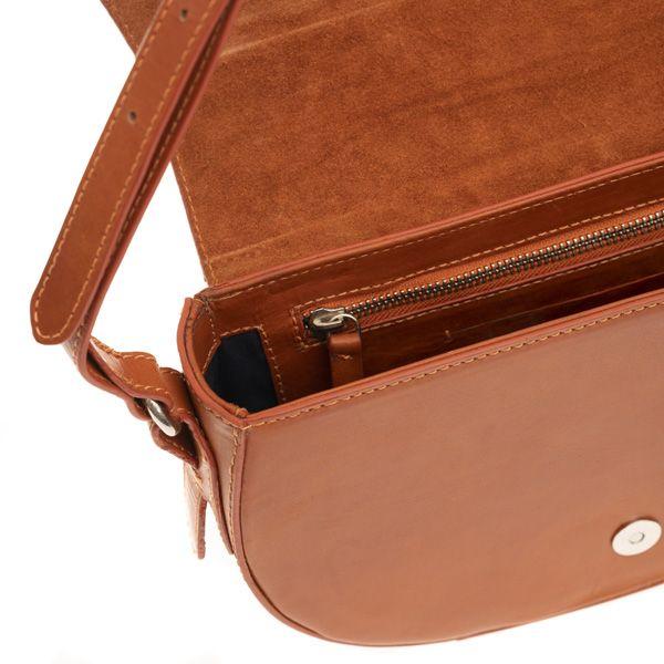 National Trust Leather Saddle Bag, Tan