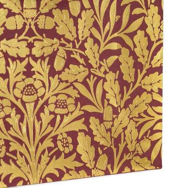 William Morris Morris and Co Medium Red Acorn Gift Bag
