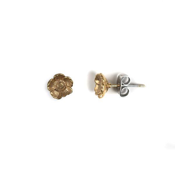 Love Scarlet, Brass Cherry Blossom Earrings