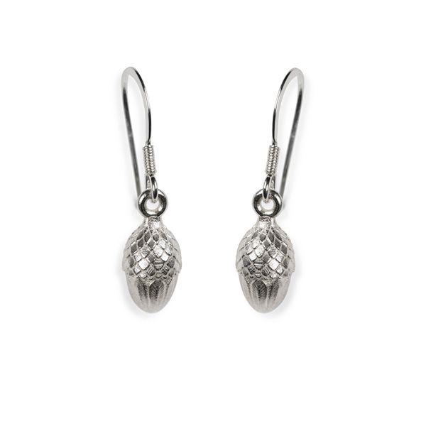 Love Scarlet, Silver Acorn Earrings