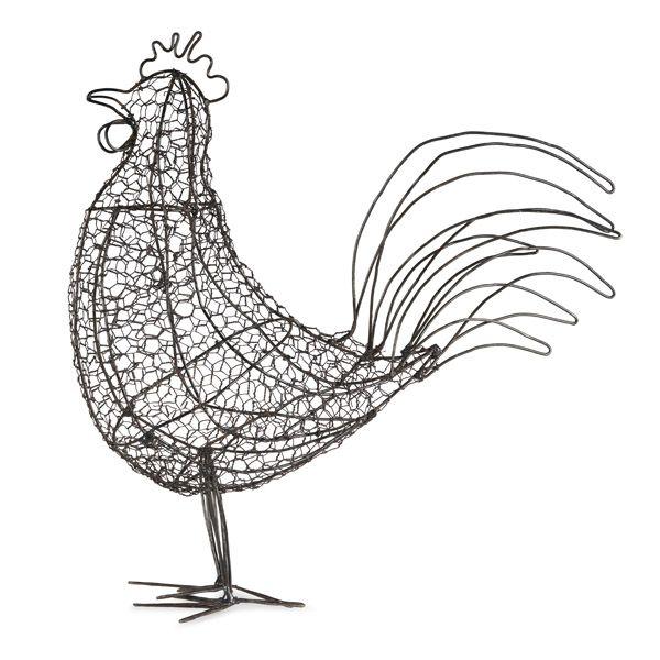 Mesh Wire Sculpture, Cockerel