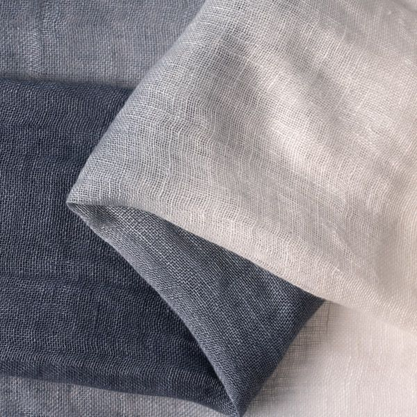 Ombre Linen Scarf, Blue