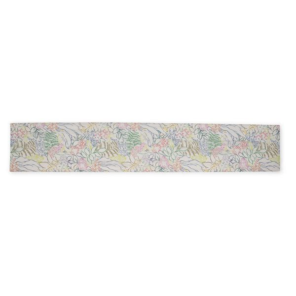 National Trust Silk Scarf, Nymans Foliage, Multicolour