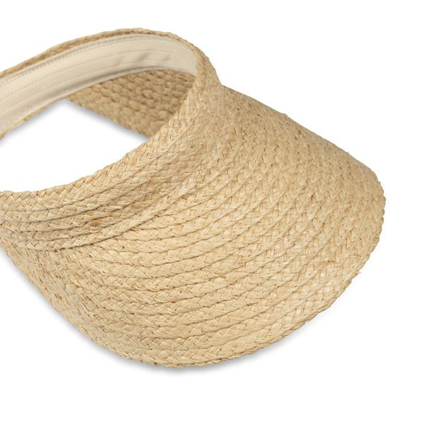 Natural Raffia Visor on Headband