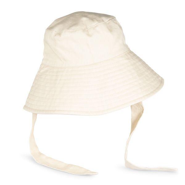 Bucket Hat with Tie, Cream
