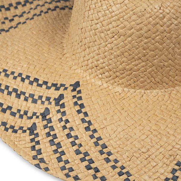 Wide Brim Woven Patterned Hat