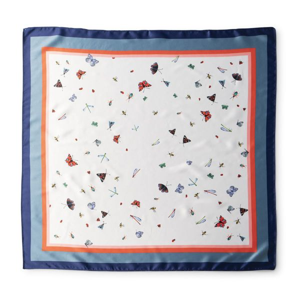 National Trust Square Scarf, Mottisfont Insects