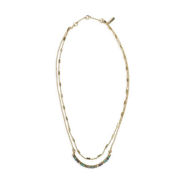 Nkuku Necklace, Aja Lolite, Labradorite and Calcydone