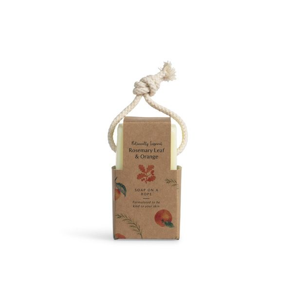 Rosemary Leaf and Orange Soap on a rope