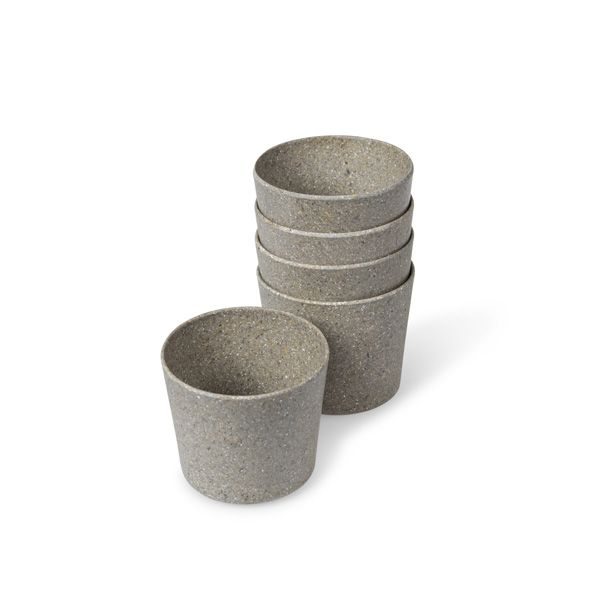 Plastic Free Set of 5 Mini Plant Pots