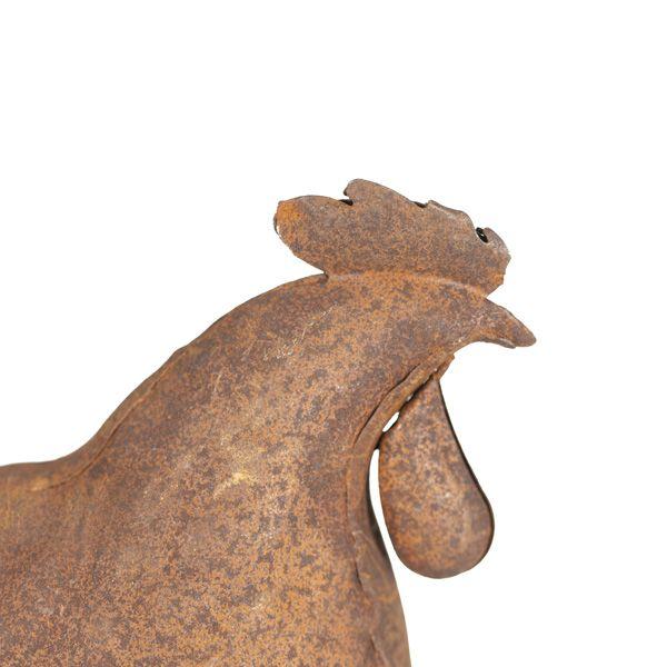 Small Rustic Hen Sculpture
