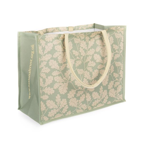 rPet Shopper Bag - Large - Alfriston Clergy House Oak Leaf - Khaki