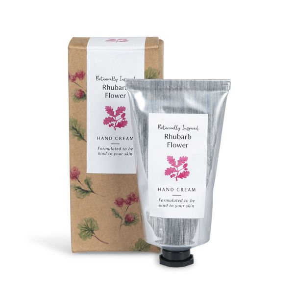 National Trust Rhubarb Flower Hand Cream Tube, 75ml