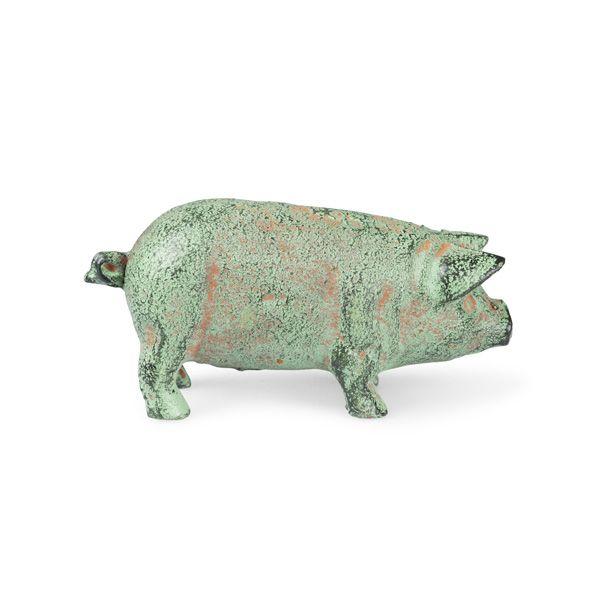 Miniature Pig Sculpture, Green
